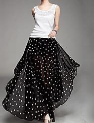 Women's Black Skirts , Casual Maxi
