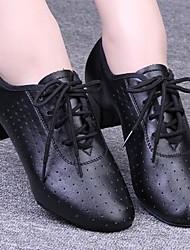 saltos das mulheres modernas baixa ventilação calcanhar com sapatos de dança lace-up (mais cores)