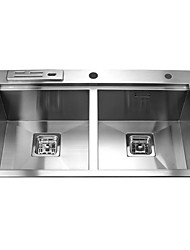 L30.7 Inch Double Bowl 304 Stainless Steel Kitchen Sink