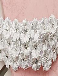 enviar com uma flor de diamante headpieces noiva