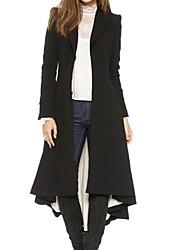 Women's  Black Long Sleeve  Victoria  Trench Coat