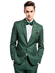 Dark Green Slim Fit Two-Piece Suit
