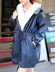 ropa de invierno corderos desmontables lana caliente dan larga grandes yardas en el vaquero de ocio fina ropa de algodón acolchado 12tgf124