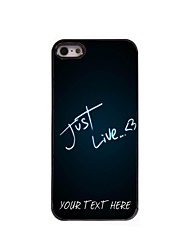 Personalized Phone Case - Just Live Design Metal Case for iPhone 5/5S