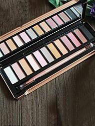 12 couleurs mats nacrée lustre maquillage nude fard à paupières