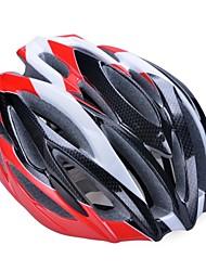 moda cómoda seguridad + y casco de bicicleta de alta transpirabilidad (31 tiros) - negro + rojo + plata