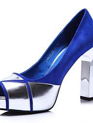 Women's Shoes Komanic Peep Toe Chunky Heel Pumps Shoes