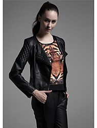 Faux Leather Jacket Women's Water Washing Garment Brand PU Jacket