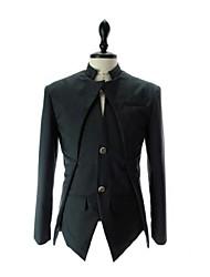 nt&Moda slim de manga comprida terno assimétrica jaqueta de Max homens