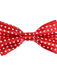 vermelho&teste padrão branco gravata borboleta