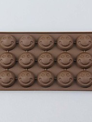 Environmental Protection Silica Gel Die Laughing Face Chocolate Cake Mold