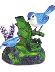 controllo vocale di canto madre e del bambino gazze con i giocattoli ramo di un albero porta penne (blu)