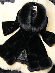 abrigo de piel de invierno parka de imitación de piel de zorro de las mujeres