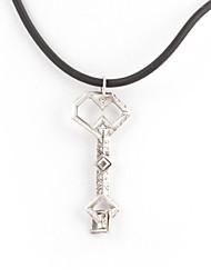 carvalho escudo tesouro chave colar de pingente de prata filme liga (1 pc)