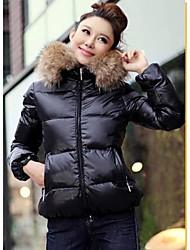 Women's Coats & Jackets , Cotton Casual Long Sleeve W.Z.J