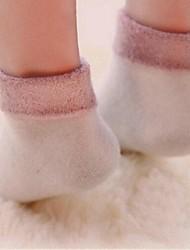 6pairs cor feitiço moda além de cashmere de espessura meias infantis para 2-4 anos (cor colocação aleatória)