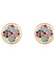 Women's Crystal Pave Clover Shape Stud Earrings (More Colors)