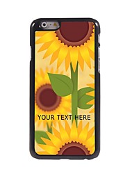 caja del teléfono personalizado - girasoles caso del diseño del metal para el iphone 6 más