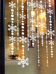 "Merry Christmas Romantic Snowflake Window Sticker - 22.8""W × 39.4""L"