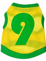 Chat / Chien T-shirt / Maillot / Sweatshirt Jaune Vêtements pour Chien Printemps/Automne Sport