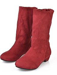 Women's Shoes Fashion Boots Wedge Heel Mid-Calf Boots More Colors available