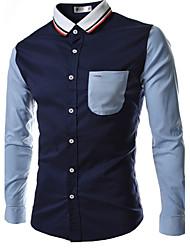 tricots épissage couleur blcoking chemise de loisirs