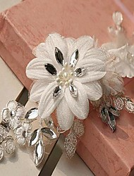 Women's Lace/Rhinestone/Tulle Headpiece - Wedding Headbands
