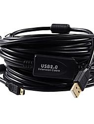 USB2.0 zu Mini-USB 5pin Kamera-Datenkabel für Canon / Nikon (5m, schwarz)