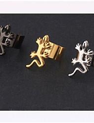 European Gecko Steel Ear Cuffs(Black,Gold,Silver) (1 Pc)