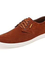 Scarpe da uomo Casual Pelo di vitello Sneakers alla moda Blu scuro/Arancione/Borgogna/Kaki