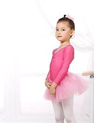 Ballet Leotards Women's / Children's Spandex / Tulle Long Sleeve CM:110:50,120:53,130:56,140:59,150:61,160:64,170:67,180:70