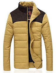 MANWAN WALK®Men's Casual Slim Patchwork Shoulder Down Coats,Winter Thick Warm Cotton-Padded Jacket.Size L-4XL