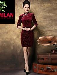 yimilan® abito qipao elegante temperamento goffratura delle donne coltiva la sua moralità