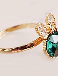 marine gemme bleue bague diamant de lapin de femmes