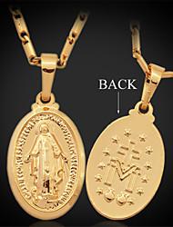 u7 virgem maria deus jesus pingente de cruz platina colar de ouro 18K para as mulheres de alta qualidade
