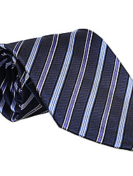 bleu foncé&lumière cravate rayée bleu