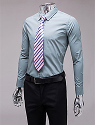 grau Slim Fit Langarm-Shirt