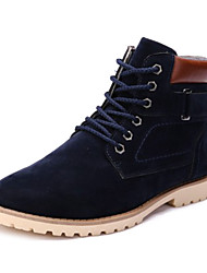 Men's Shoes Casual Fleece Boots Black/Blue/Brown
