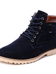 Men's Fall / Winter Work & Safety Fleece Casual Flat Heel Lace-up Black / Blue / Brown