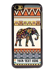 Personalized Phone Case - Elephant Design Metal Case for iPhone 5C
