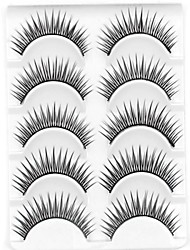 Eyelashes lash Eyelash Natural Long Volumized / Natural / Curly Fiber