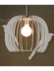 lustre gaiola luz pendente luz moderno corredor branco teto cob led pingente lâmpadas quarto luz