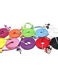 2м появление лапши дизайн Micro USB кабель для Samsung Galaxy Примечание 4 / S4 / S3 / с2 и LG / HTC / Sony