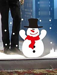 adesivi murali della parete decalcomanie, autoadesivi moderni della parete pvc pupazzo di neve di Natale