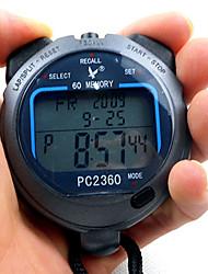 60 1 / 100s souvenirs 3 ligne 23 chiffres de temps de 10h à rebours&calendrier chronomètre numérique pour saut de sport pc2360