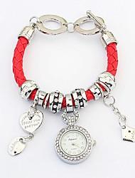 Women's European Style Fashion Wild Heart Bracelet Watch (Assorted Colors)