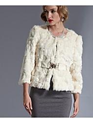 Frauen Rabbit Fur Coat
