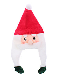 cappello di natale bellezza Cartoon Babbo Natale con treccia