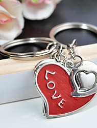 Personalized Engraving LOVE YOU Metal Couple Keychain