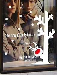 adesivi murali stickers murali autoadesivi moderni della parete, autoadesivi della finestra pvc pupazzo di neve di Natale